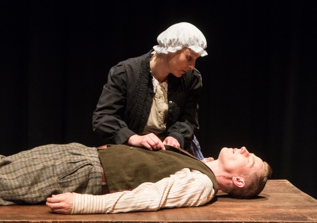 Joey Hateley and Jo Dakin as Harry Stokes and Ada in 'Mister Stokes: The Man-Woman of Manchester'.