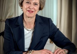 Image ©Licensed to i-Images Picture Agency. 01/08/2016. London, United Kingdom. Prime Ministers Official Portrait. Picture by Andrew Parsons / i-Images
